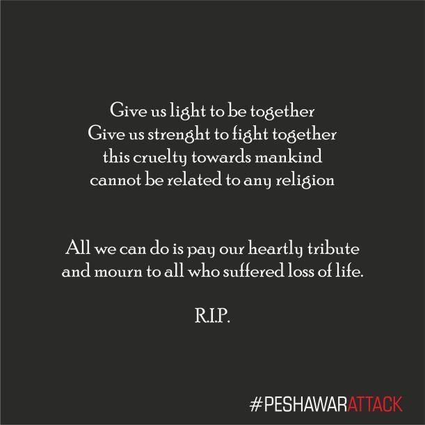 Peshawar Attack Tribute
