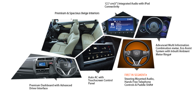 Honda Jazz Interior features