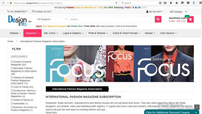 Design Info Magazine Subscription Page